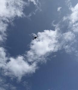0094 レーザースキャナ搭載のドローン飛行デモを行いました!