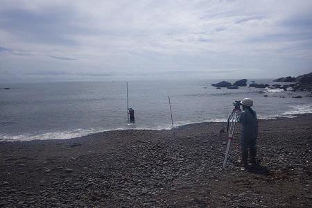 0101 海浜の汀線測量