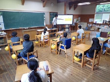 0120 久重小学校で出張授業を行いました!【身近な川について知ろう:座学編】